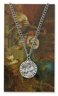 St. Hubert Pendant and Prayer Card Set