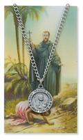 St. Francis Xavier Pendant and Prayer Card Set