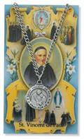 St. Vincent de Paul Pendant and Prayer Card Set