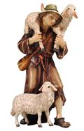 Shepherd with Sheep - Hand Carved Pema
