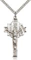 Sterling Silver Crucifix Necklace #86903