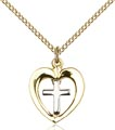 Two-Tone SS - GF Heart - Chalice Necklace #87627