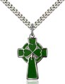 Sterling Silver Celtic Cross Necklace #87775