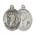Divine Mercy Medal - Sterling Silver with 18 in. Chain