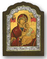 Silver framed Madonna Icon (large)