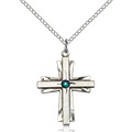 May Birthstone Cross Necklaces
