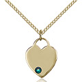 May Birthstone Heart Medals