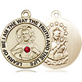 Scapular Medal - July Birthstone - 14 KT Gold #88784