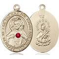 Scapular Medal - July Birthstone - 14 KT Gold #89660
