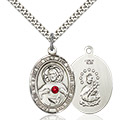 Scapular Pendant - July Birthstone - Sterling Silver #89664