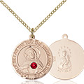 Scapular Pendant - July Birthstone - Gold Filled #89667