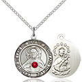 Scapular Pendant - July Birthstone - Sterling Silver #89669