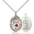 Scapular Pendant - July Birthstone - Sterling Silver #89670