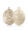 14kt Gold St. Michael the Archangel Medal, Army