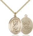 14kt Gold Filled St. Christopher - Coast Guard Pendant, Coast Guard