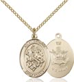 14kt Gold Filled St. George - Army Pendant, Army