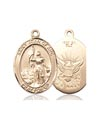14kt Gold St. Joan Of Arc - Navy Medal, Navy