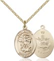 14kt Gold Filled St. Michael - Army Pendant, Army