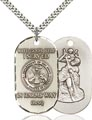 Sterling Silver Iraq - Army Pendant, Army