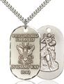 Sterling Silver St. Christopher - Iraq Navy Pendan, Navy