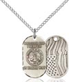 Sterling Silver Army Pendant, Army