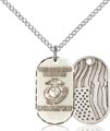Sterling Silver Marines Pendant, Marines