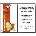 Personalized Confirmation Holy Card