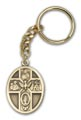 Antique Gold 5-Way / Holy Spirit Keychain