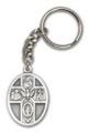 Antique Silver 5-Way / Holy Spirit Keychain