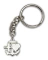 Silver Plate Faith, Hope & Charity Keychain