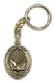 Antique Gold Holy Spirit Keychain