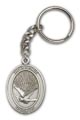 Antique Silver Holy Spirit Keychain