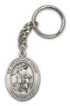 Antique Silver Guardian Angel Keychain