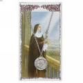 St. Clare Pendant and Prayer Card Set