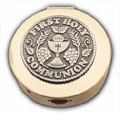 First Communion Keepsake Box - Brass and Pewter