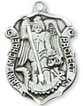 St Michael Medal in Sterling Silver - Small Shield
