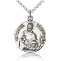 St. Gabriel of the Blessid Virgin Medal - Sterling Silver - Medium, Engravable  (#81705)