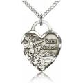 St. Michael the Archangel Medal - Sterling Silver - Medium, Engravable  (#19046)