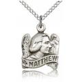St. Matthew Pendant - Sterling Silver - Small,    (#83222)