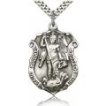 St. Michael the Archangel Medal - Sterling Silver - Large, Engravable  (#19065)