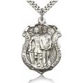St. Michael the Archangel Medal - Sterling Silver - Large, Engravable  (#19021)