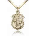 St. Michael the Archangel Pendant - Gold Filled - Long,    (#85521)