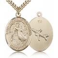St. Joseph of Cupertino Medal - Gold Filled - Large, Engravable  (#82071)