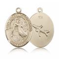 St. Joseph of Cupertino Medal - 14 KT Gold - Large, Engravable  (#82072)