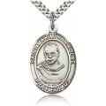 St. Maximilian Kolbe Medal - Sterling Silver - Large, Engravable  (#19054)