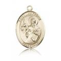 St. Matthew the Apostle Medal - 14 KT Gold - Large, Engravable  (#82123)