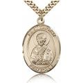 St. Timothy Medal - Gold Filled - Large, Engravable  (#82202)
