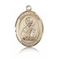 St. Timothy Medal - 14 KT Gold - Large, Engravable  (#82203)