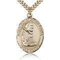 St. Pio of Pietrelcina Medal - Gold Filled - Large, Engravable  (#82253)