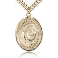 Saint Teresa of Calcutta Medal - Gold Filled - Large, Engravable  (#82664)